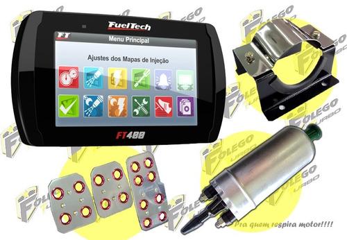 kit ft-400 + bomba comb. gti + suporte aço inox + pedaleiras