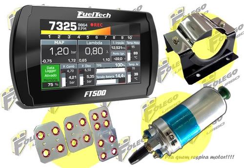 kit ft-500 + bomba comb. 12 bar + sup. aço inox + pedaleiras