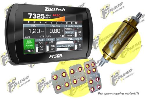 kit ft-500 + filtro combustível pequeno + pedaleiras racing
