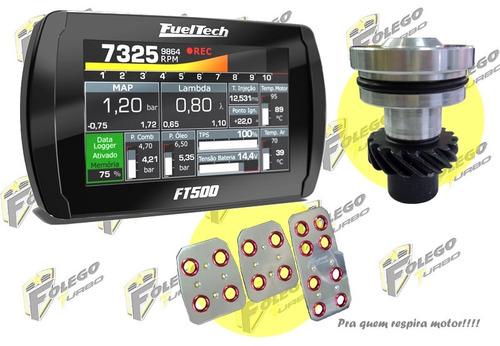 kit ft-500 + tampão distribuidor vw ap + pedaleiras racing