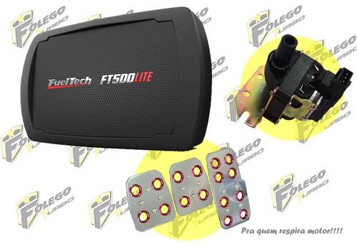 kit ft-500lite + bobina ignição vw ap mi + pedaleiras racing