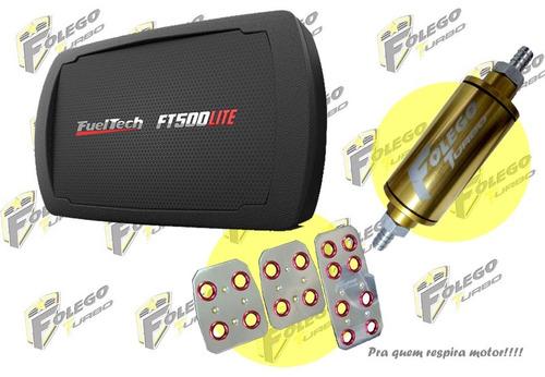 kit ft-500lite + filtro combustível peq. + pedaleiras racing