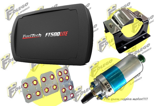 kit ft-500lite sem chicote + bomba 12bar + sup. aço + pedal.