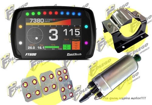 kit ft-600 + bomba comb. gti + suporte aço inox + pedaleiras