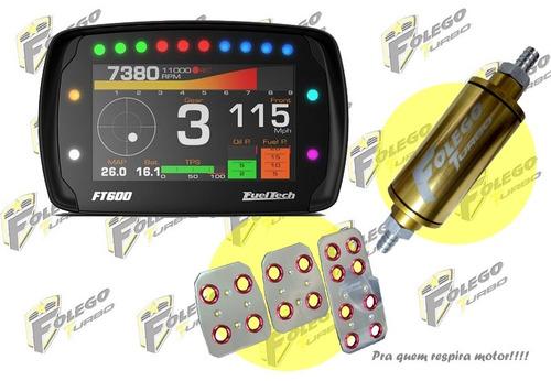 kit ft-600 + filtro combustível pequeno + pedaleiras racing