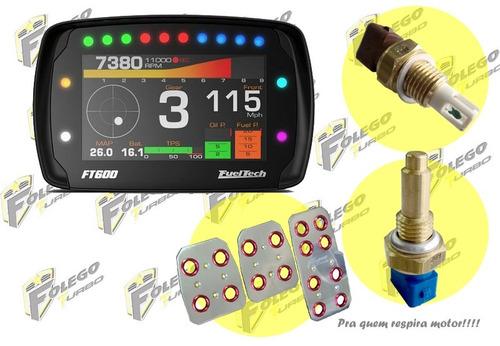 kit ft-600 + sensor ar + sensor água + pedaleiras racing
