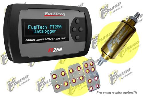 kit ft250 sem chicote + filtro comb. peq. + pedaleiras