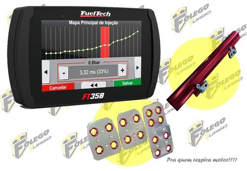 kit ft350 sem chicote + flauta ap mi + pedaleiras racing