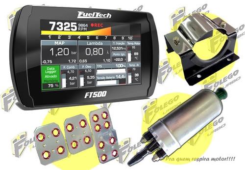 kit ft500 sem chicote + bomba gti + suporte aço + pedaleiras