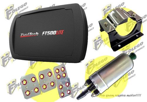 kit ft500lite sem chicote + bomba gti + suporte aço + pedal.