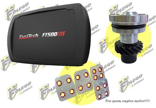 kit ft500lite sem chicote + tampão distr. ap + pedaleiras