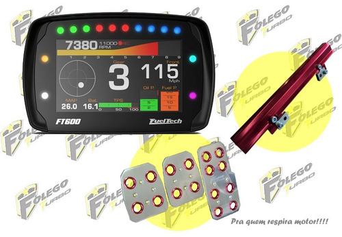 kit ft600 sem chicote + flauta ap mi + pedaleiras racing