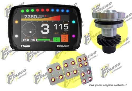 kit ft600 sem chicote + tampão distr. ap + pedaleiras racing