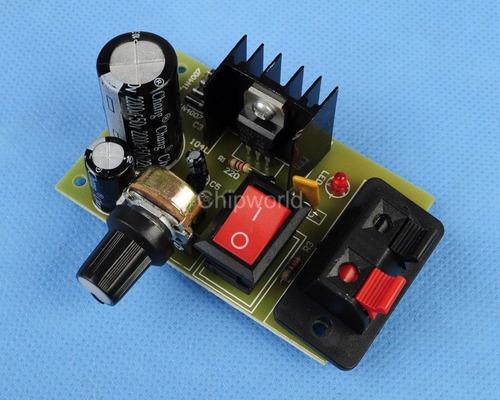 kit fuente de poder lm317 1.5 a 30 vdc 1 a arduino proyectos