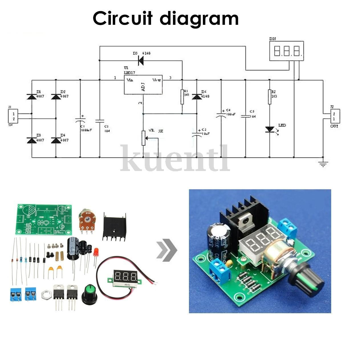 lm317 adjustable power supply schematic with Mpe 422141033 Kit Fuente De Voltage Regulable Variable Con Lm317 40vdc  Jm on MOSFET Based Joule Thief Steps Up Voltage besides Lm317 Regulator Ic Circuit Diagram in addition Simple 24v 20   Adjustable Power Supply Circuit further Lm358 together with Thread287505.