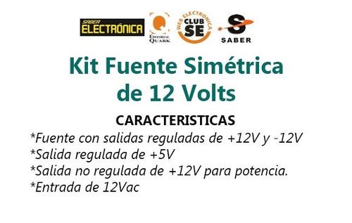 kit fuente simétrica +/- 12v y +5v