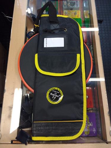 kit funda palillos rock bag + 2 pares de palillos promark