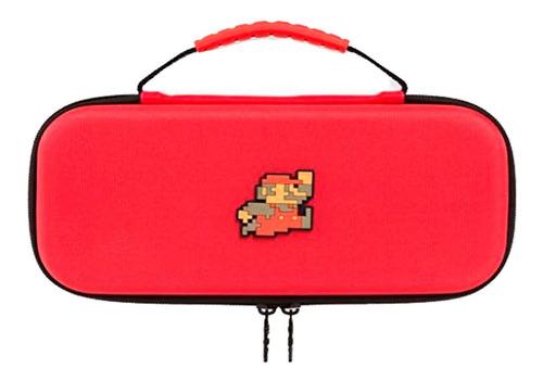 kit funda protectora 8 bit mario bros rojo nintendo switch