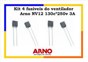 Kit 4 Fusíveis Ventilador Arno Nv12 130cº250v 3a Promoção!