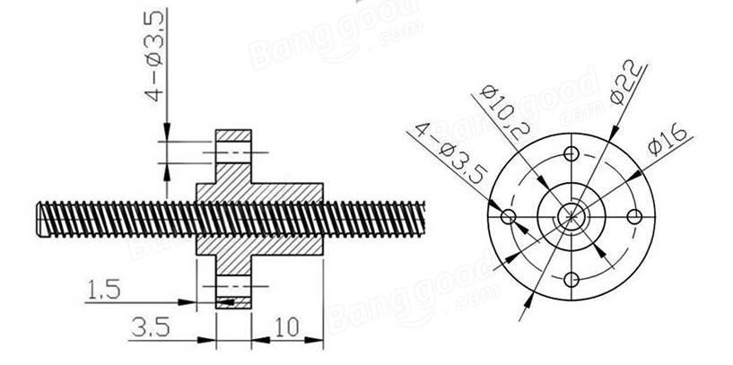 kit fuso t8 200mm castanha acoplador flex u00edvel cnc 3d glbr