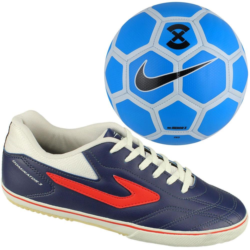 kit futsal chuteira topper dominator iii + bola futsal nike! Carregando  zoom. 0446a1a352dd7