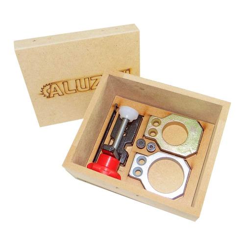 kit gabarito para dobradiças 26 e 35mm caneco aluzini