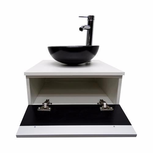 Kit Gabinete Banheiro + Cuba De Vidro + Misturador + Valvula  R$ 459,00 em M -> Cuba Para Banheiro Misturador