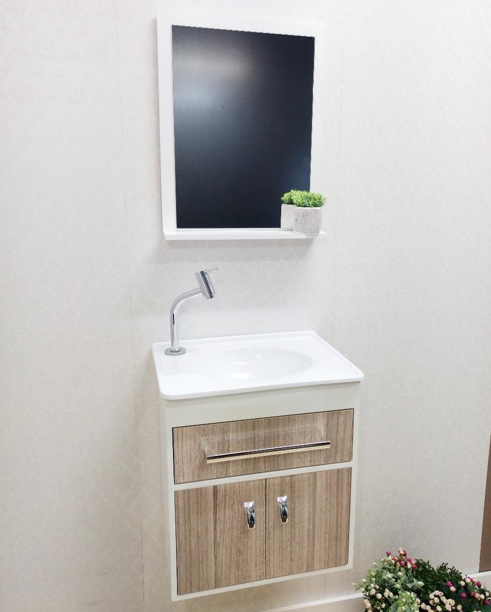 Kit Gabinete Banheiro Mira Balcão Esp Cuba Pia Oferta