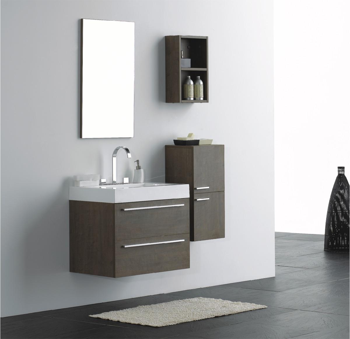 Kit Gabinete Banheiro Modelo Dafne Kd695 05 Peças