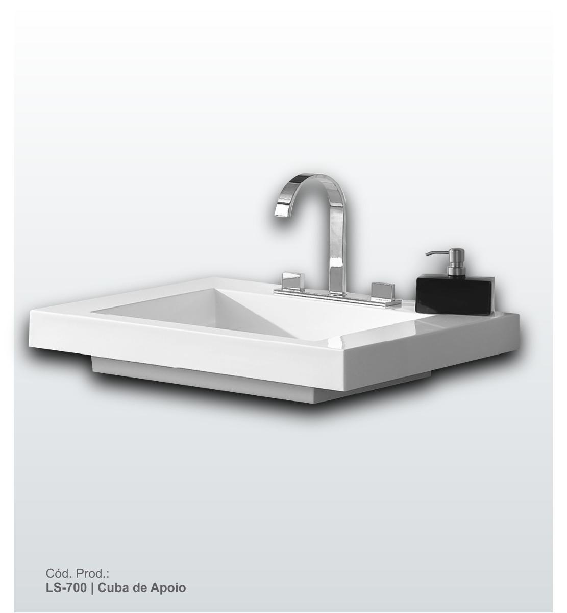 Banheiro Modelo Squadre Ks704 04 Peças R$ 1.125 00 em Mercado #5B6570 1111x1200 Armario Banheiro Mercado Livre
