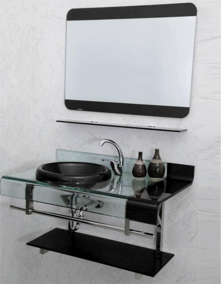 Kit Bancada Banheiro Vidro : Kit gabinete pia bancada banheiro estilo astra chopin