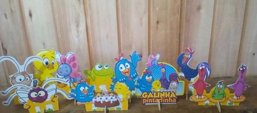 kit galinha e minie rosa de mesa,display,festa infantil,mdf