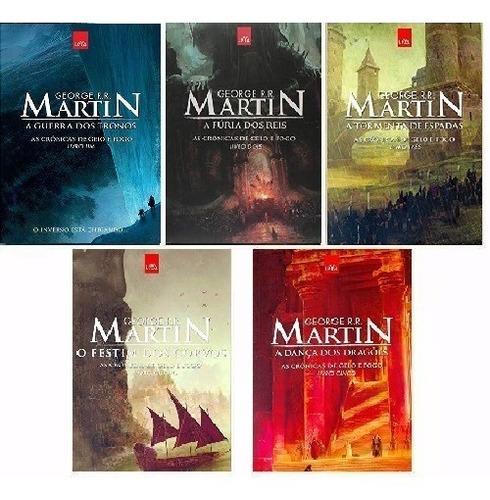 kit game of thrones - 5 livros - em português -