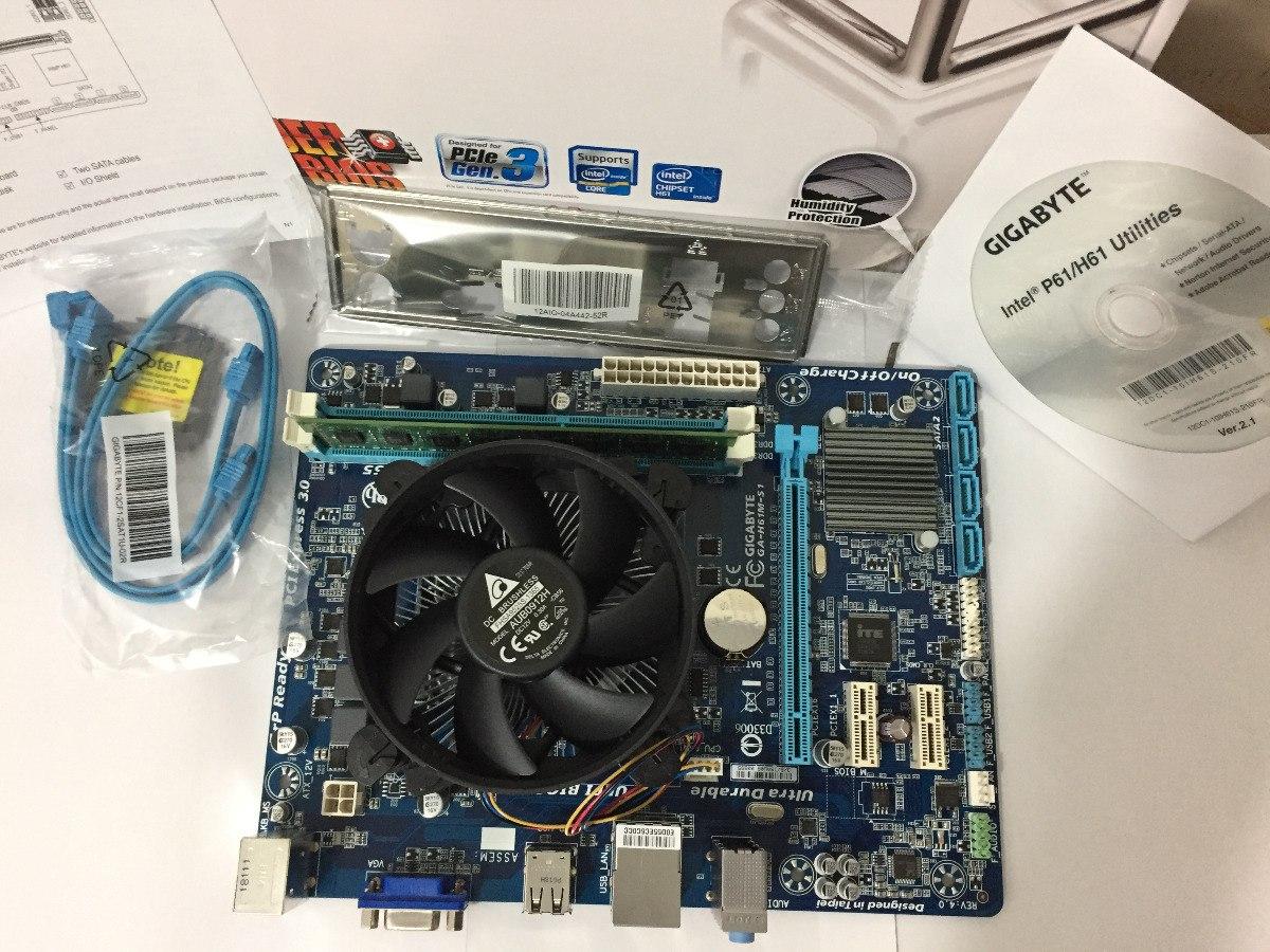 Kit Gamer Core I5+placa H61 1155 Gigabyte+4gb Ddr3+pcie 3 0