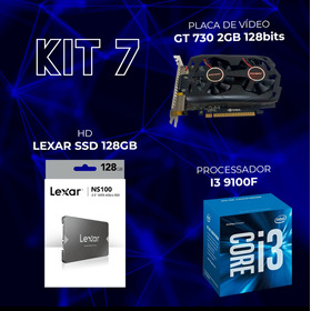 Kit Gamer Gt 730 2 Gb + I3 9100 F + Ssd Netac 128 Gb + 8 Gb