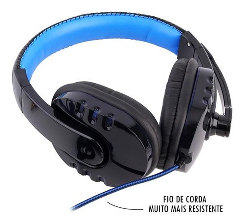 kit gamer hz8 teclado resiste a água mouse  led e headset