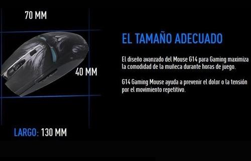 kit gamer mouse y tapete de gel eagle warrior g14 mousepad
