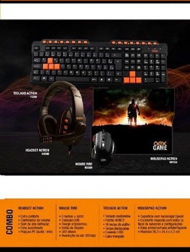 kit gamer oex  (mp300/hs200/ms304/tc200)