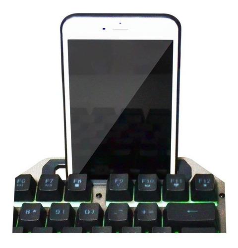 kit gamer pc teclado mouse retroiluminado cable usb nkb-96
