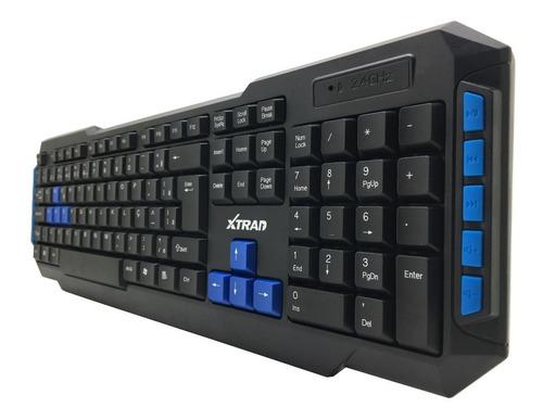 kit gamer sem fio teclado mouse wireless 2.4ghz usb pc jogos
