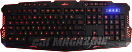 kit gamer teclado 3 led  mouse 2400 dpi led  fone headset