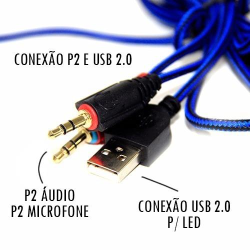 kit gamer teclado headset e mouse luz led 3200dpi hz4 7.1