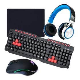 Kit Gamer: Teclado Mouse 6400 Dpi Head Set Gamer