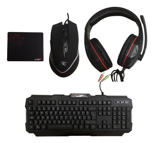 kit gamer teclado mouse auriculares pad sentey gs-5810 pc