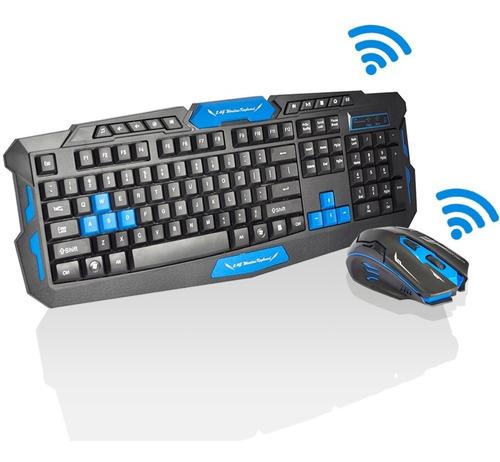kit gamer teclado + mouse sem fio 2.4ghz 3200dpi +649 vendas