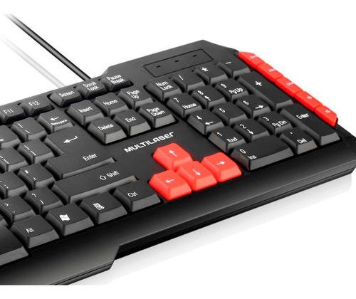 kit gamer teclado red tc160  + mouse 18 botões mo206