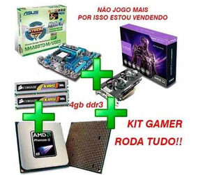 Kit Gaming - Asus M4a88t-m/usb3 + R9 270x + Phenom X6 1055t
