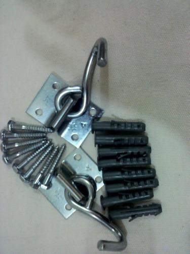 kit ganchos redes de descanso - aliança - 04 furos