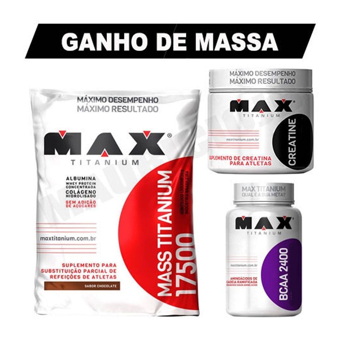a61dad4f2 kit ganho de massa muscular hipercalórico + bcaa + creatina. Carregando  zoom.