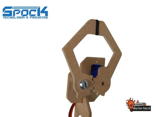 kit garra robótica - servo incluso! arduino pic robô motor